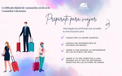 Certificado digital vacunación Comunidad Valenciana